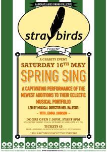 Straybirds Spring Sing 2015 Poster